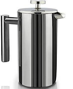 French Press Double-Wall Stainless Steel Mirror Finish (1.75L) Coffee/Tea Maker