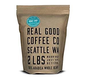 Real Good Coffee Co Whole Bean Coffee, Donut Shop Medium Roast