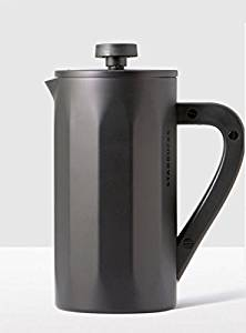Starbucks Stainless Steel Coffee Press with Soft Touch Handle – Matte Black, 8-cup …