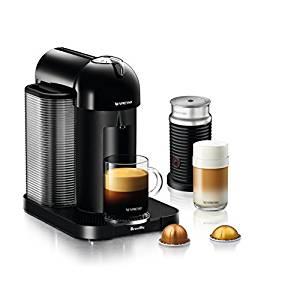 Breville Nespresso Vertuo Coffee and Espresso Machine Bundle with Aeroccino Milk Frother