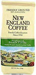 Coffee French Vanilla, Decaffeinated, 10 Ounce from New England