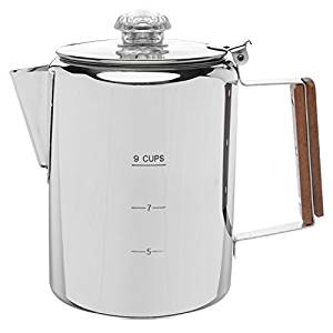 Coletti Bozeman Percolator Coffee Pot – 9 CUP Stainless Steel