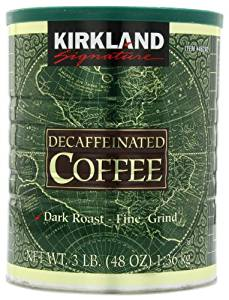 Dark Roast Fine Grind Decaf Arabica Coffee, 48 Ounce from Kirkland Signature