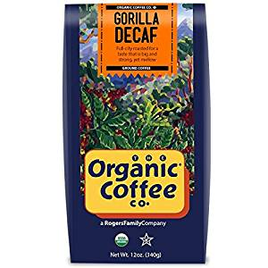 Gorilla Decaf- Ground, 12 Ounce, USDA Organic from the Organic Coffee Co.