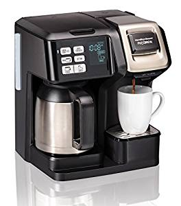 Hamilton Beach Coffee Maker with Thermal Carafe, Single Serve and Full Coffee Pot