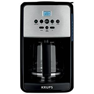 Krups Programmable Coffee Maker with Stainless Steel Accent
