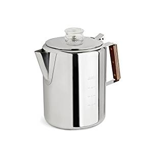 Tops 55705 Rapid Brew Stovetop Coffee Percolator, Stainless Steel, 2-12 Cup