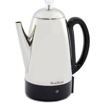 West Bend 54159 Classic Stainless Steel Electric Coffee Percolator