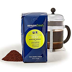 AmazonFresh Organic Fair Trade Peru Ground Coffee