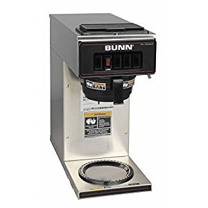 BUNN 13300.0001 VP17-1SS Pour over Coffee Brewer with 1 Warmer, Stainless Steel