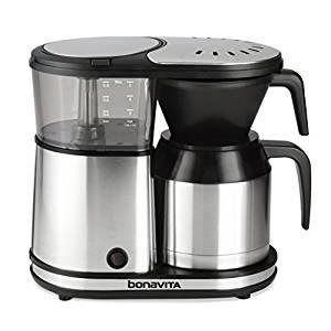 Bonavita BV1500TS 5-Cup Carafe Coffee Brewer, Stainless Steel