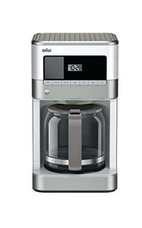 Braun KF6050WH Brewsense Drip Coffee Maker, 12-Cup, White