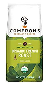 Cameron's Coffee Roasted Whole Bean Organic French Roast Coffee