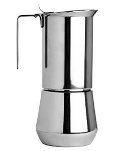 Ilsa Stainless Steel 9 Cup Stovetop Espresso Maker
