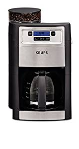 KRUPS Coffee Maker, Grind and Brew, Automatic Coffee Maker with Burr Grinder, 10-Cups, Black, Model KM785D50