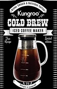 Kungroo Airtight Glass Cold Brew Coffee Maker Pitcher Pot, 1 Quart
