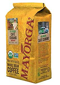 Mayorga Organics Cafe Cubano Dark Roast Whole Bean Organic Coffee