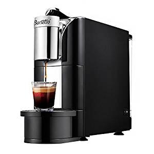 Coffee Brewer Barsetto Espresso Capsule Coffee Maker One Button Single Serve Machine for Home School Office