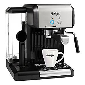 Coffee Café Steam Automatic Espresso and Cappuccino Machine, Silver/Black