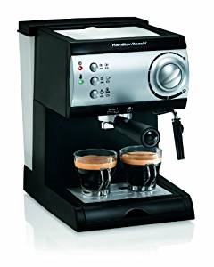Hamilton Beach Espresso Machine with Steamer – Cappuccino, Mocha, Latte Maker (40715)