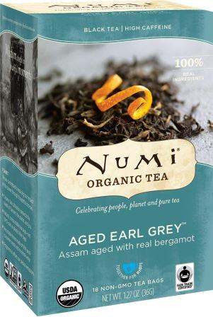 Numi Organic Tea Aged Earl Grey, (Pack of 3 Boxes)