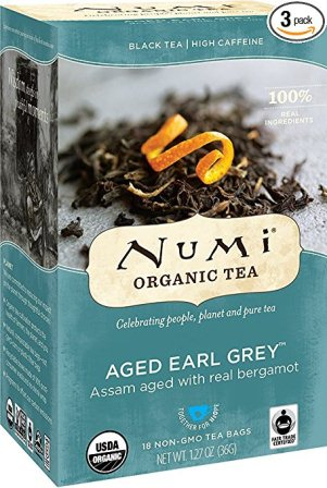 Numi Organic Tea Aged Earl Grey (Pack of 3 boxes)