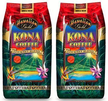 Hawaiian Gold Kona Whole Bean Coffee