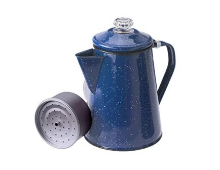GSI Outdoors Enamelware Percolator and Coffee Pot