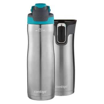 Contigo AUTOSEAL West Loop, Stainless Steel Travel Mug, 2-pack