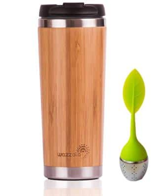 Elegant Reusable Bamboo Eco Travel Mug (14 Oz)
