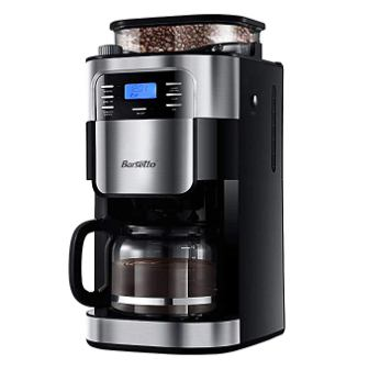 Grind & Brew Automatic Coffeemaker Barsetto Digital Programmable Drip Coffee Machine Brewer for Kitchen and Office