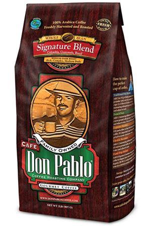 2 lbs. Café Don Pablo Gourmet Coffee Signature Blend- Medium Dark Roast Coffee