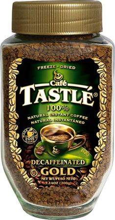Café Tastle – Natural Instant Coffee Decaffeinated Gold