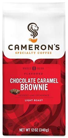 Cameron's Coffee Roasted Whole Bean Coffee, Flavored, Chocolate Caramel Brownie, 12 Ounce