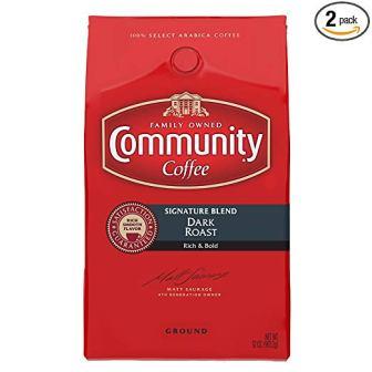 Community Coffee Signature Blend Dark Roast Premium Ground 32 oz. Bag