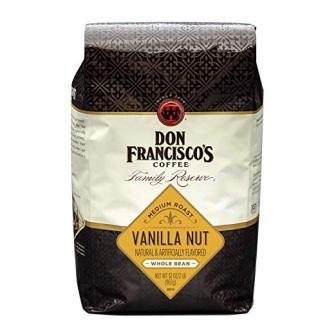 Don Francisco's, Vanilla Nut Flavored Whole Bean Coffee, 100% Arabica, 32-Ounce Bag
