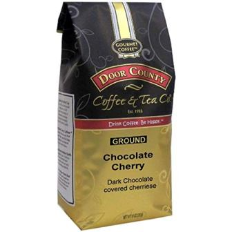 Door County Coffee, Chocolate Cherry, Ground, 10oz Bag