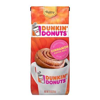 Dunkin' Donuts Bakery Series Ground Coffee, Cinnamon Roll, 11 oz