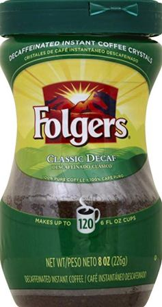 Folgers – Classic Decaf Instant Coffee