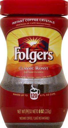 Folgers Classic Roast Instant Coffee