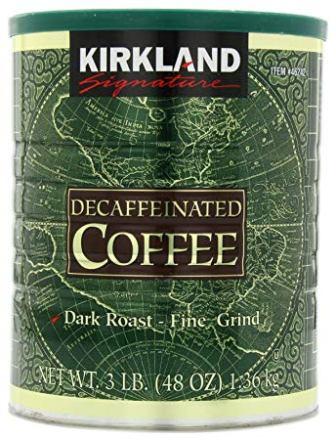 Kirkland Signature Dark Roast Fine Grind Decaf Arabica Coffee