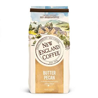 New England Coffee Butter Pecan Ground Coffee, 11 Ounce