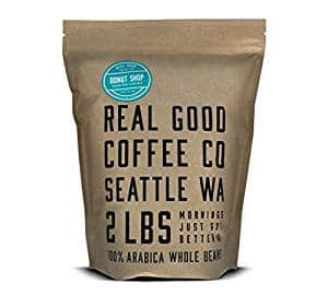 Real Good Coffee Co Donut Shop Medium Roast Whole Bean Coffee