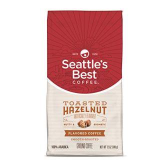 Seattle's Best Coffee Toasted Hazelnut Flavored Medium Roast Ground Coffee