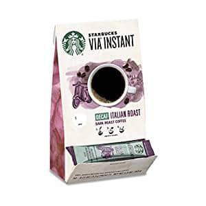 Starbucks – VIA Instant Decaf Italian Roast