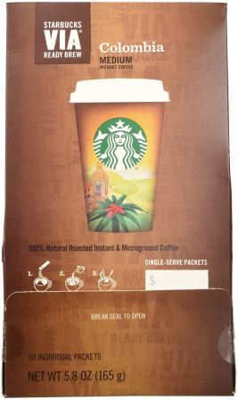Starbucks VIA Colombia Ready Brew Instant Coffee