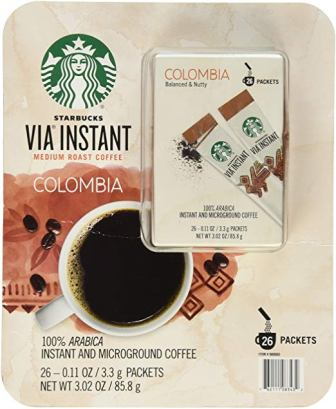 Starbucks Via Medium Roast Colombia Instant Coffee