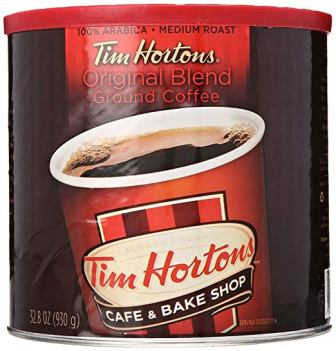 Tim Horton's 100% Arabica Medium Roast Original Blend Ground Coffee