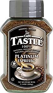 Café Tastle Platinum Espresso Freeze Dried Instant Coffee
