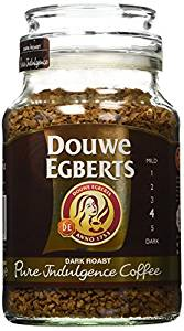 Douwe Egberts Pure Indulgence Instant Coffee in Jar Dark Roast